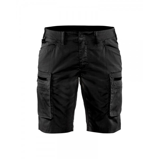 Dame Service Shorts Stretch Blåkläder Sort INDUSTRI-kvalitet-345