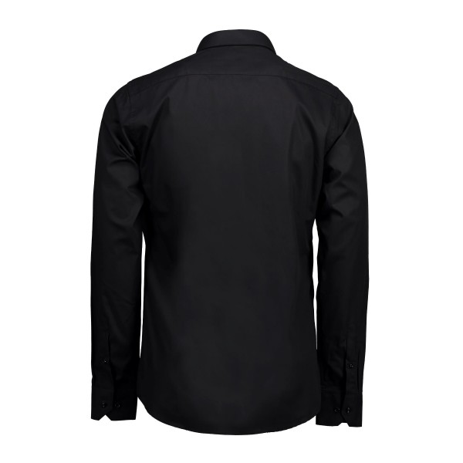 Seven Seas skjorte Poplin | L/S, Slim fit sort-342