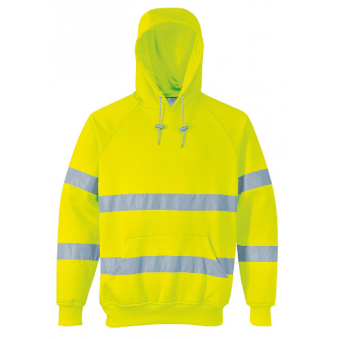 Portwest Hi-vis hætte sweatshirt med lynlås B304 Gul INDUSTRI-kvalitet-336