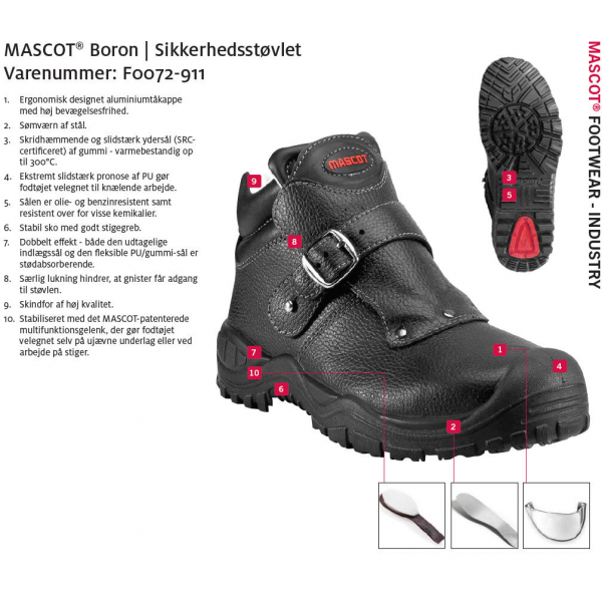 BORON | MASCOT® FOOTWEAR INDUSTRY Sikkerhedsstøvlet-317