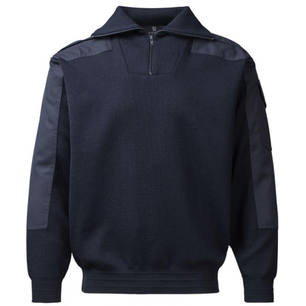 Clipper C.C.FIFTY-FIVE Nato troyer/herre-pullover med zip-hals-20366 Navy-334