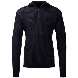 C.C.FIFTY-FIVE Nato striktrøje/herre-pullover med zip-hals Navy-20