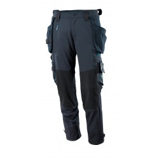 Mascot stretch bukser med aftagelige hængelommer mørk marineblå-20