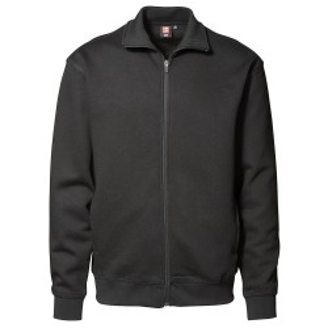 Herre cardigan sweatshirt fra ID Sort ID0622-20
