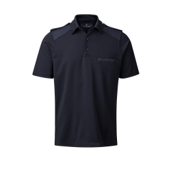 C.C.FIFTY-FIVE Nato polo med skulderstropper og brystlomme. Navy-20
