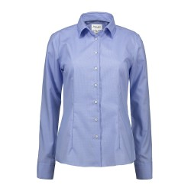 Seven Seas Dameskjorte lys blå Dobby | Royal Oxford | L/S modern fit-20
