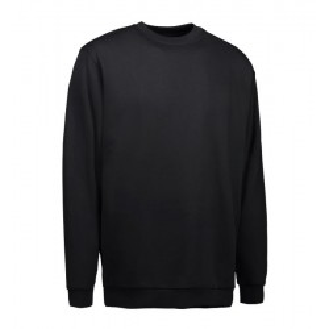 PRO wear klassisk sweatshirt fra ID sort INDUSTRI-kvalitet-20