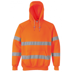 Portwest Hi-vis hætte sweatshirt med lynlås B304 Orange INDUSTRI-kvalitet-20
