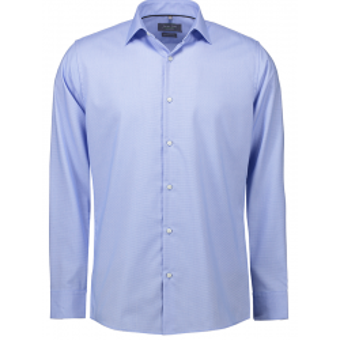 Seven Seas skjorte lys blå Dobby | Royal Oxford | L/S Slim fit-20
