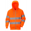 Portwest Hi-vis hætte sweatshirt med lynlås B305 Orange INDUSTRI-kvalitet-034