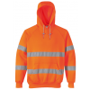 Portwest Hi-vis hætte sweatshirt med lynlås B304 Orange INDUSTRI-kvalitet-035