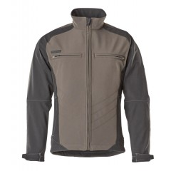 MASCOT® UNIQUE - Dresden 12102-149-1809 Softshell jakke - koksgrå/sort