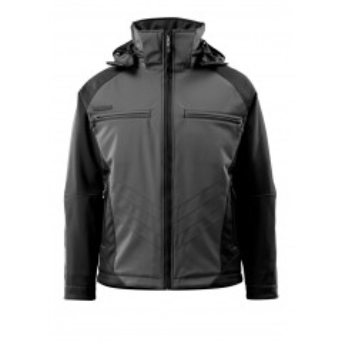 MASCOT® UNIQUE - Darmstadt 16002-149-1809 vinter Softshell jakke - koksgrå/sort