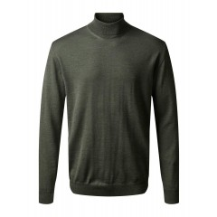 CC50113 Clipper TURIN rullekrave pullover - Oliven