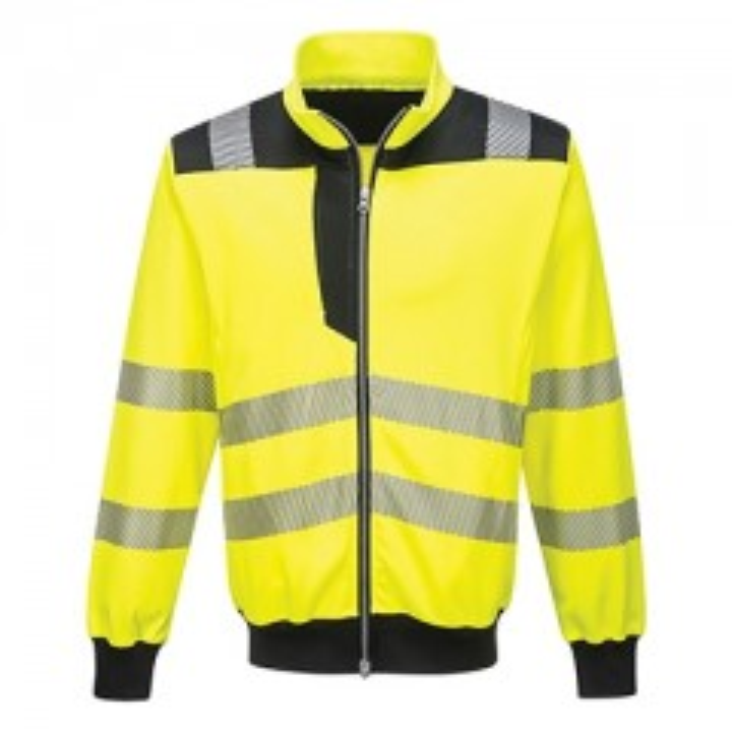 Portwest | PW370 - hi-vis kl. 2 sweatshirt cardigan Gul/Sort
