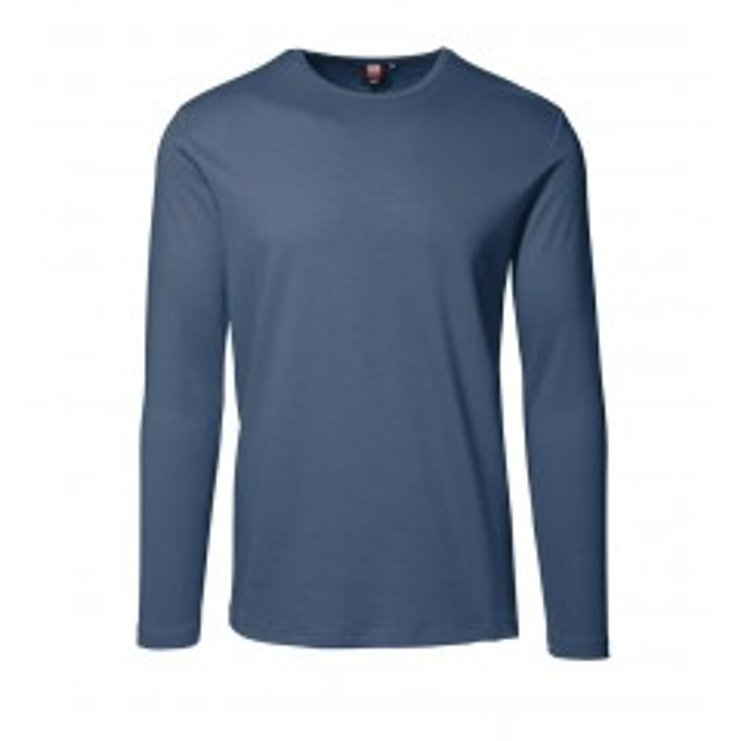 ID | 0518 Interlock T-shirt | langærmet, Indigo