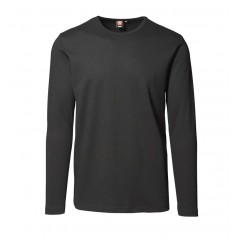 ID | 0518 Interlock T-shirt | langærmet, Sort